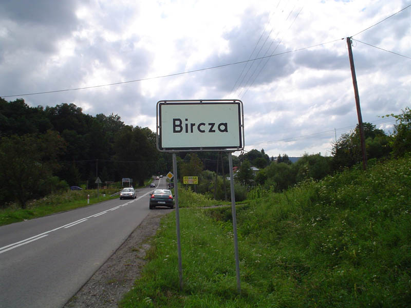 [Bircza road sign, 2005]